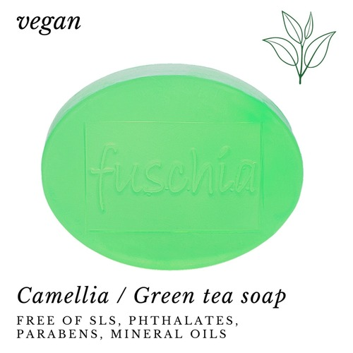 Fuschia - Camellia Natural Handmade Glycerine Soap Green Tea