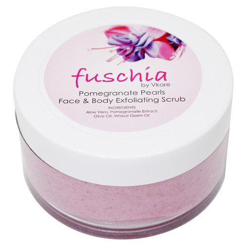 Fuschia - Pomegranate Pearls - Face & Body Exfoliating Scrub -50g