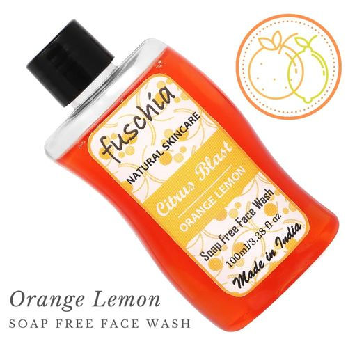 Fuschia Citrus Blast Orange Lemon Soap Free Face Wash - 100ml