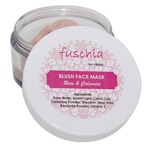 Fuschia Blush Face Mask  - Rose & Calamine - 50g