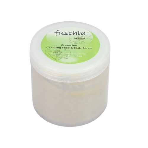 Fuschia - Green Tea - Face & Body Clarifying Scrub