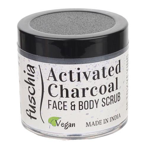Fuschia - Activated Charcoal - Face & Body Detoxifying Scrub -100g