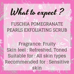 Fuschia - Pomegranate Pearls - Face & Body Exfoliating Scrub -50g