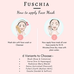 Fuschia Detox Face Mask - Activated Charcoal-15g