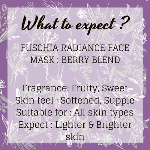 Fuschia Radiance Face Mask - Berry Blend-15g