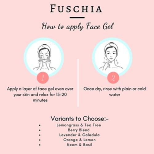 Fuschia Brightening Face Gel - Berry Blend