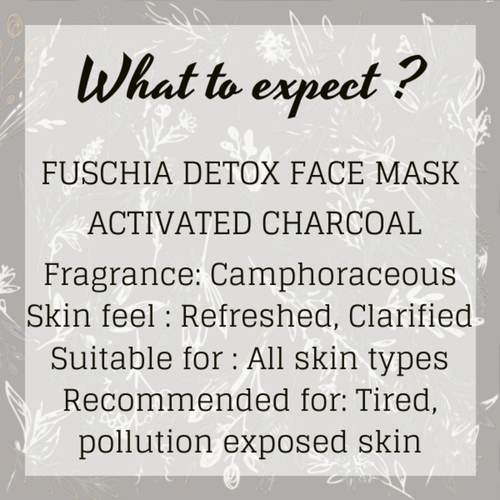 Fuschia Detox Face Mask - Activated Charcoal - 100gm