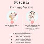 Fuschia Dazzle Face Mask - Sandal & Saffron-15g