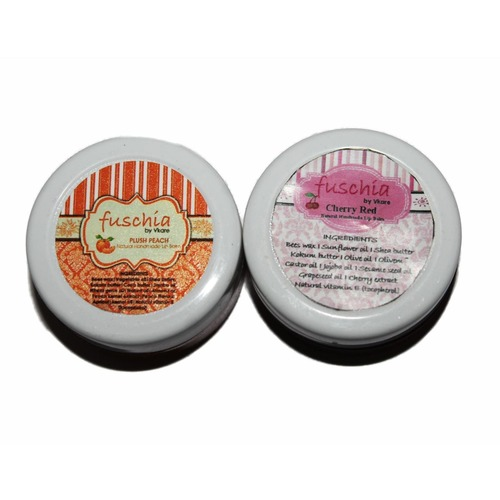 Fuschia  Cherry Red & Peach Lip Balm Combo