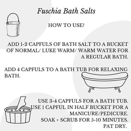 Fuschia - Sandal Saffron Bath salt - 15 gms