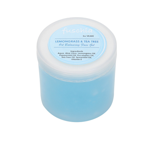 Fuschia Oil Balancing Face Gel -  Lemongrass & Tea Tree