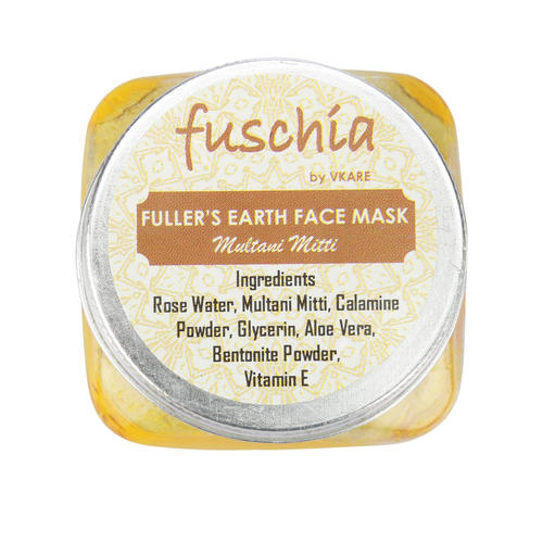 Fuschia Fuller's Earth Face Mask - Multani Mitti