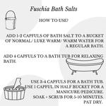 Fuschia Citrus Orange Bath Salt - 100g