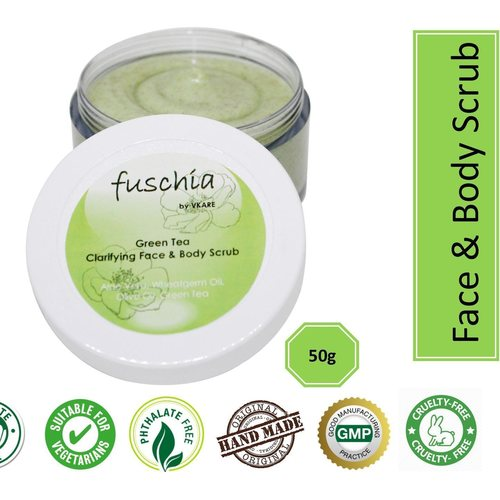 Fuschia - Green Tea - Face & Body Clarifying Scrub - 50g