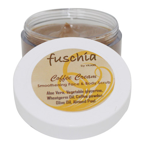 Fuschia - Coffee Cream - Smoothening Face & Body Scrub -50g