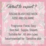 Fuschia Blush Face Mask  - Rose & Calamine - 100g