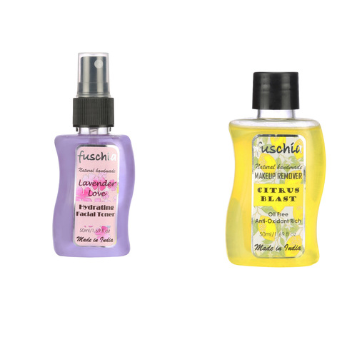 Fuschia Makeup Remover & Facial Toner Combo - 50ml