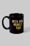 Coffee Mug - Black Base with Yellow Print