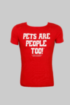 Women's Tee - Red Base with White Print