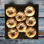 Egg Doughnuts with Liver Sauce Set of 8