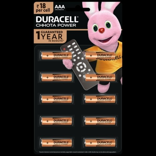 Duracell Chota Power AAA Battery (Pack of 10)