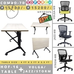 Table Chair Combo - 7D HOF 16 Table + VOLGA  JAZZ  STROM Chair