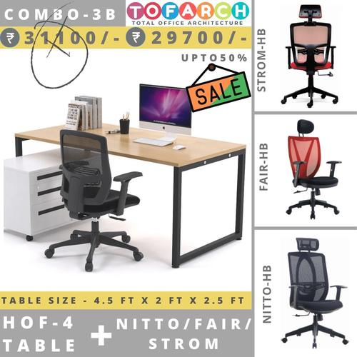 Table Chair Combo - 3B HOF 4 Table + NITTO  FAIR  STROM Chair