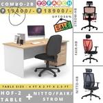 Table Chair Combo - 2B HOF 2 + NITTO  FAIR  STROM