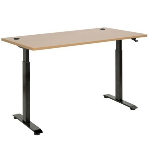PNEUMATIC LIFT SIT STAND DESK BLACK