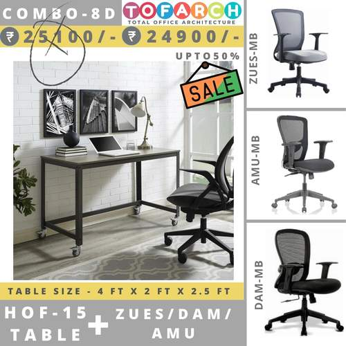 Table Chair Combo - 8D HOF 15 Table + DAM  AMU  ZUES Chair