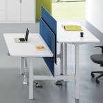 SHARING SIT STAND DESK WHITE SET OF 2