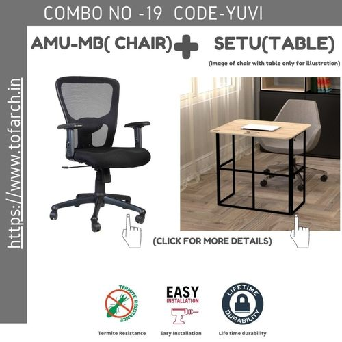 Work from Home Combo YUVI SETU TABLE  + AMU-MV CHAIR