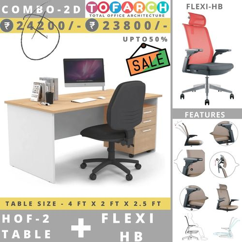 Table Chair Combo - 2D HOF 2 Table + Flexi Chair