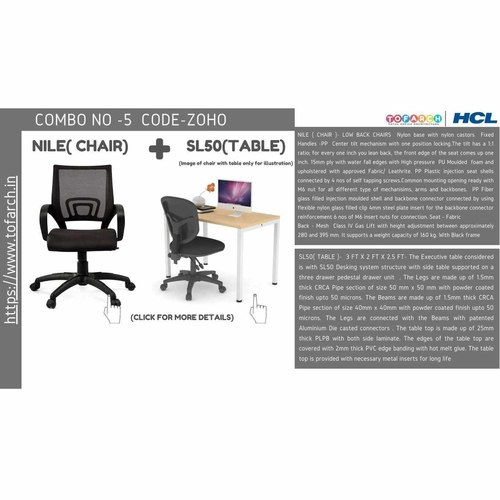 Work from Home Combo ZOHO SL50 TABLE  + NILE CHAIR