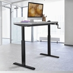 MANUAL WORKSTATION Black Legs and White Top