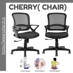 Home Office Chair Cherry Low Back with Seat Height Adjustment and Back Mesh