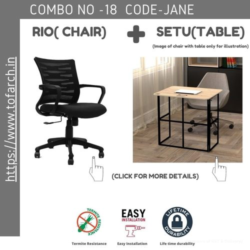 Work from Home Combo JANE SETU TABLE  + RIO CHAIR