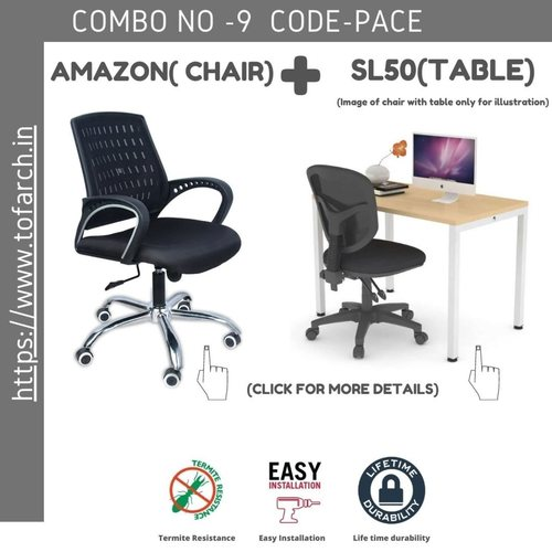 Work from Home Combo PACE  SL 50 TABLE  + AMAZON CHAIR
