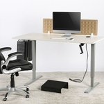 MANUAL SIT STAND DESK GREY