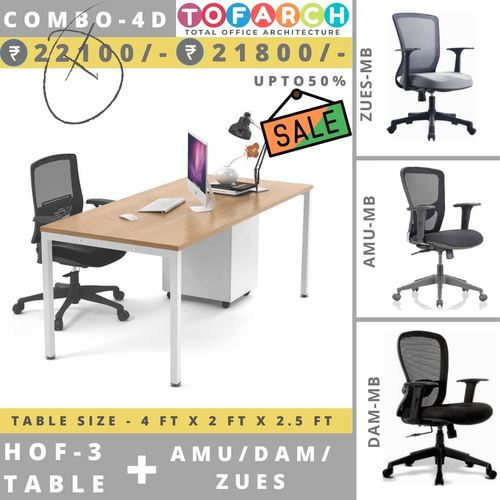 Table Chair Combo - 4D HOF 3 Table + AMU  DAM  ZUES Chair