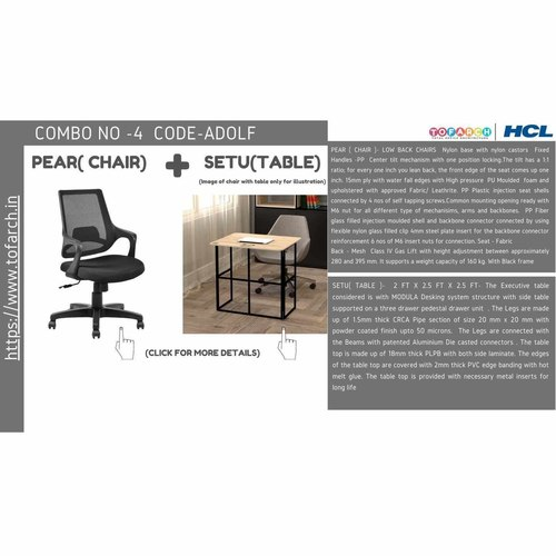 Work from Home Combo ADOLF SETU TABLE  + PEAR CHAIR