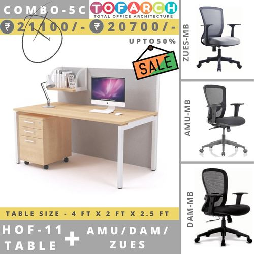 Table Chair Combo - 5C HOF 11 Table + AMU  DAM  ZUES Chair