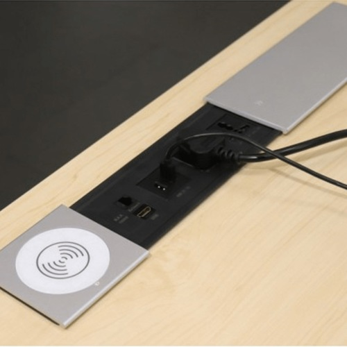 Electric Box - Slide Out Wireless Charger 10 Watt + 2 Universal Power + 2 USB Charger + 1 Cat 6 Socket + 1 HDMI