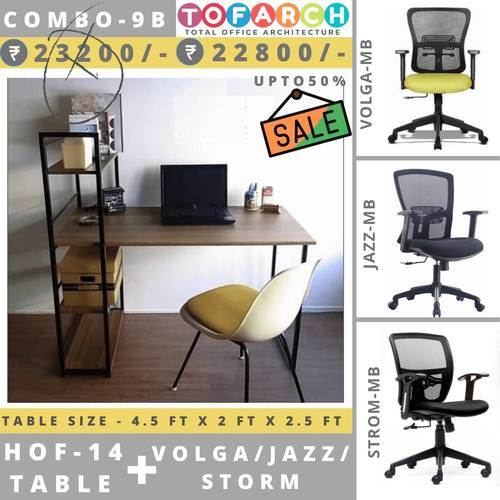 Table Chair Combo - 9B HOF 14 Table + VOLGA  JAZZ  STROM Chair