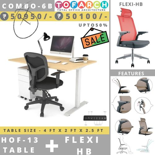 Table Chair Combo - 6B HOF 13 Table + FLEXI HB Chair