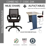 Work from Home Combo ZAK ALFA TABLE  + NILE CHAIR
