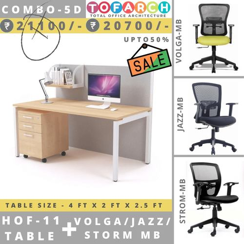 Table Chair Combo - 5D HOF 11 Table + VOLGA  JAZZ  STROM Chair