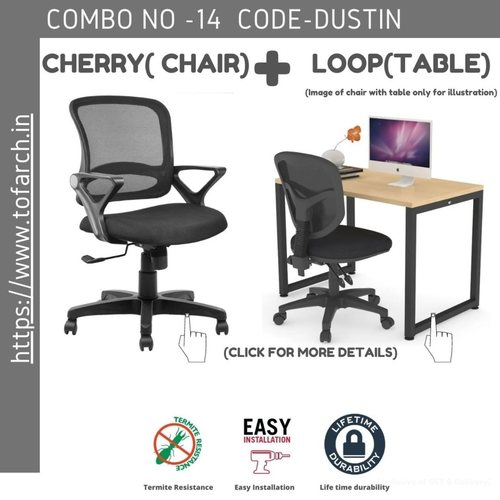 Work from Home Combo DUSTIN LOOP TABLE  + CHERRY CHAIR