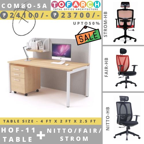 Table Chair Combo - 5A HOF 11 Table + NITTO  FAIR  STROM Chair