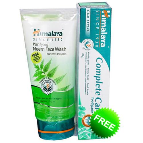 Himalaya Purifying Neem Face Wash  - 100ml (With Himalaya Active Fresh Gel - 40g FREE)
